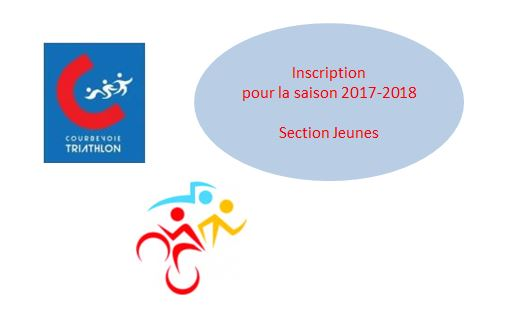 Inscription Nouveaux Adhérents Jeunes - Saison 2017-2018